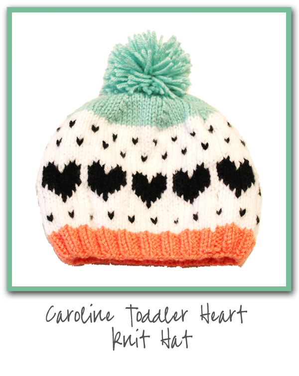 Caroline Toddler Heart Knit Hat