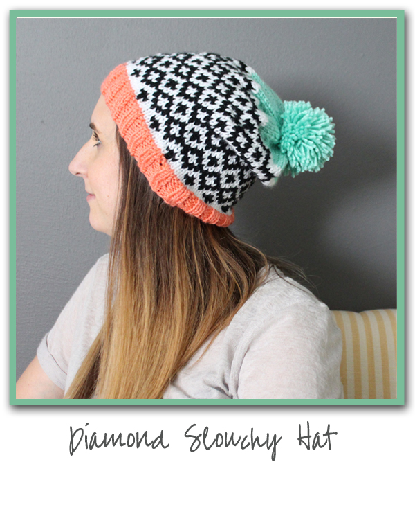 Diamond Slouchy Hat