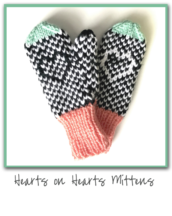 Hearts on Hearts Mittens
