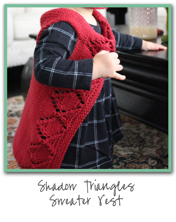 Shadow Triangles Sweater Vest