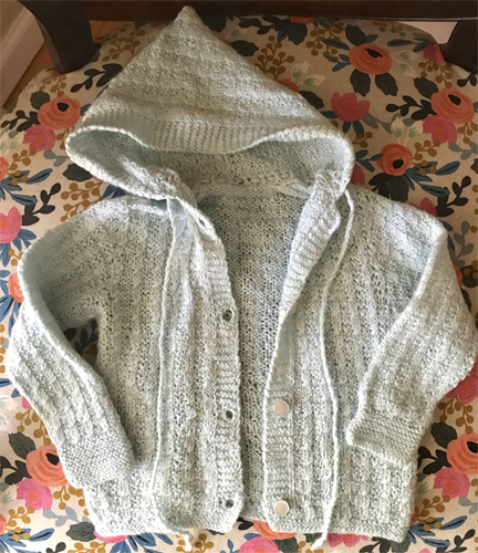 Icelandic heirloom hand knit baby sweater