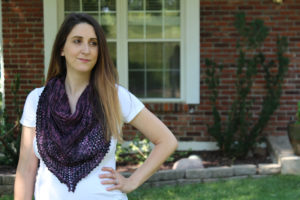 Reyna Shawl, hand knit shawl.