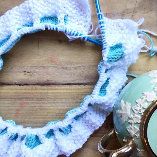 Honeycomb knit baby blanket