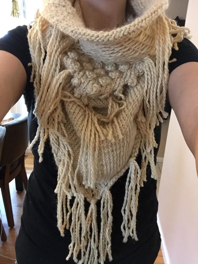 Bandana Rocks Hand Knit Scarf